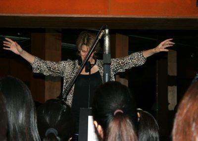 Deb conducting Speakeasy Studios Singapore
