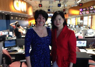 Deb with client at CNN HK (May 2014)