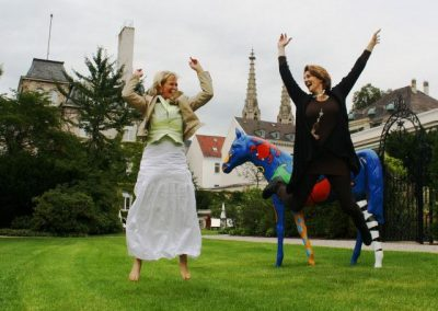 Jumping for Joy with student Simona in Baden Baden Germany